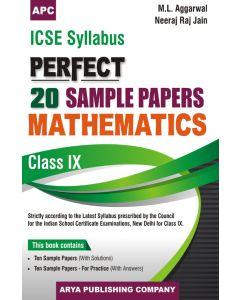 ICSE Perfect20 Sample Papers Mathematics-9