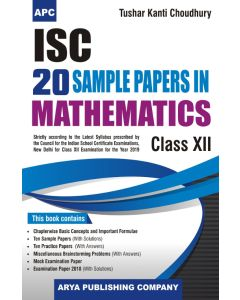 ISC 20 Sample Papers in Mathematics Class-12