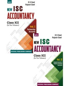 New I.S.C. Accountancy Class- XII Volume I Partnership Accounts, New I.S.C. Accountancy Class- XII Volume II Company Accounts & Analysis of Financial Statements