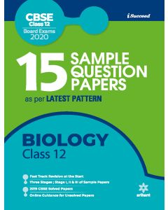15 Sample Question Papers Biology Class 12th CBSE 2019-2020