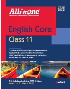 CBSE All In One English Class 11 for 2021 Exam