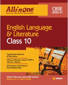 All In One English Language & Literature CBSE Class 10 2020-21