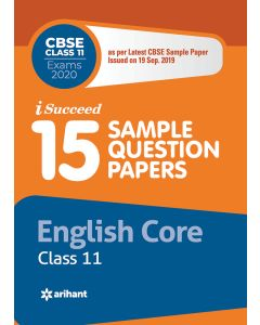 I-Succeed 15 Sample Question Papers CBSE Board Exams 2020 EnglishClass 11th