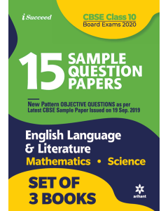 15 Sample Question Papers CBSE Board Exams 2020 - English, Mathematics, Science Class 10th