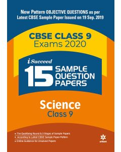 I-Succeed 15 Sample Question Paper CBSE Exams 2020 - Science Class 9th