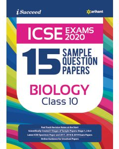 I-Succeed 15 Sample Question Papers ICSE Exam 2020 - Biology Class 10th