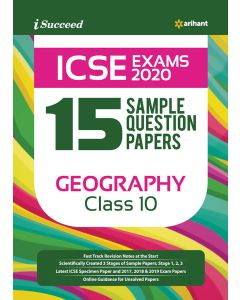 I-Succeed 15 Sample Question Papers ICSE Exams 2020 Geography Class 10th