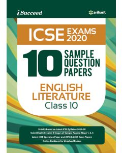 I-Succeed 10 Sample Question Papers ICSE Exams 2020 EnglishLITERATURE Class 10th