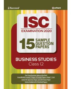 ISC EXAMINATION 2020 15 Sample Question Papers Business Studies Class 12th