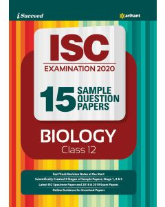I-Succeed 15 Sample Question Papers ISC Exam 2020 - Biology Class 12th