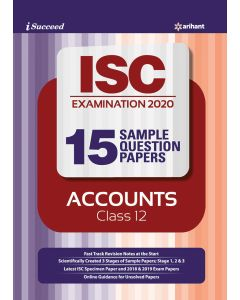 i-succeed ISC Examination 2020 15 Sample Question Papers Accounts Class 12th