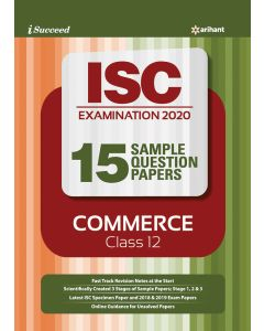 i-succeed ISC Examination 2020 15 Sample Question Papers Commerce Class 12th