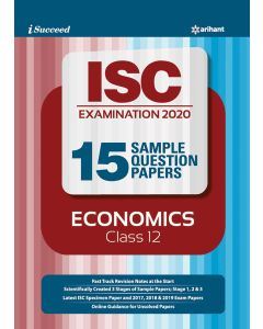i-succeed ISC Examination 2020 15 Sample Question Papers Economics Class 12th