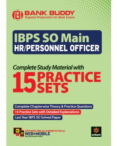 BANK BUDDY IBPS SO Main HR/PERSONNEL Officer Complete Study Material with 15 Practice Sets