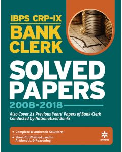IBPS CRP-IX Bank Clerk Solved Papers 2008- 2018