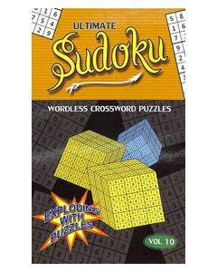 Ultimate Sudoku Vol 10 : Wordless Crossword Puzzles