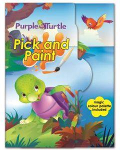 Purple Turtle Pick and Paint