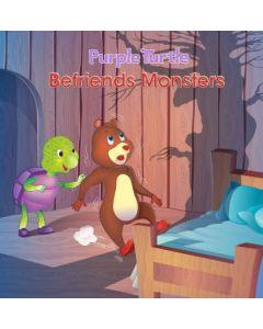 Purple Turtle Befriends Monster