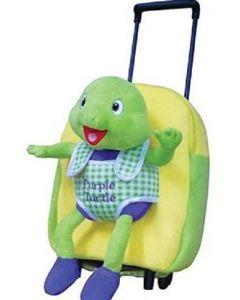 Purple Turtle kids Luggage Trolley  (Light Green, 15 inch)