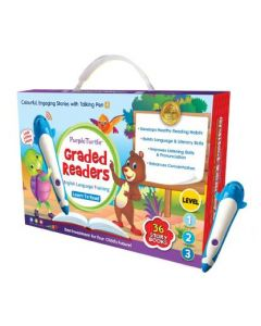 Purple Turtle Graded Reader Box with Talking Pen for kids (Early Learning Books)