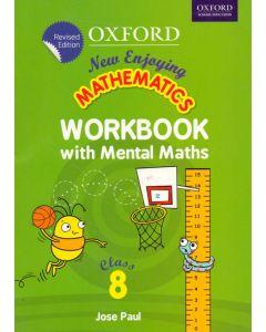 New Enjoying Mathematics Work Book with Mental Maths Class - 8