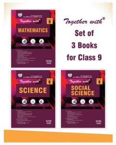 Together With Mathematics, Science and Social Science Study Material for Class 9 (Set of 3 Books)