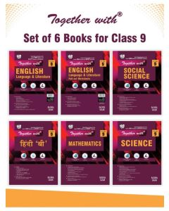 ogether With Hindi B, English Language and Literature + Pullout worksheet, Mathematics, Science and Social Science Study Material for Class 9 (Set of 6 books) PAPERBACK