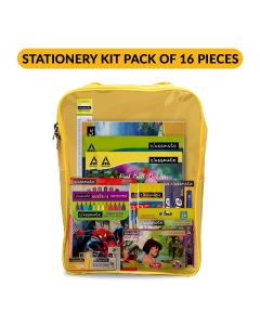 Classmate Stationery Kit Bag - Drawing Book, Sketch Pen, Oil Pastel, Eraser, Crayons, Notebook, Scale, Sharpener, Octane Colour Burst Pen, Mechanical Pencil, Octane Glide Ball Pen, Scrapbook