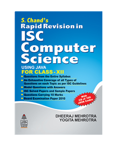 S.Chand's Rapid Revision in ISC Computer Science